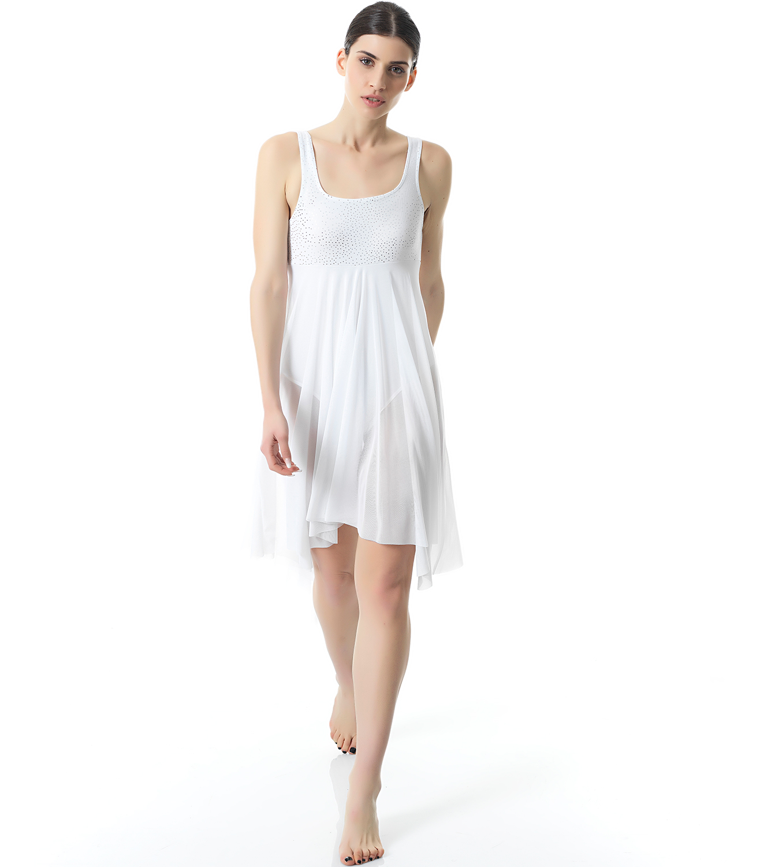 28b77337d0e0 Φόρεμα Μπαλέτου Χορού Με Μακριά Λευκή Διαφάνεια - Sport Power, η ...