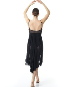 4a98c16b4750 Φόρεμα Μπαλέτου Χορού Με Μακριά Μαύρη Διαφάνεια - Sport Power, η Ελληνική  βιοτεχνία αθλητικών ενδυμάτων