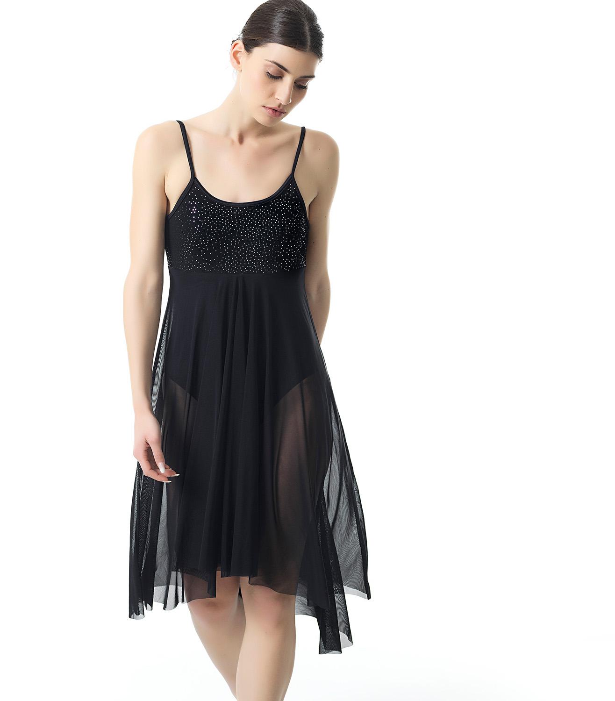 2b2a18f4e7a5 Φόρεμα Μπαλέτου Χορού Με Μακριά Μαύρη Διαφάνεια - Sport Power, η ...