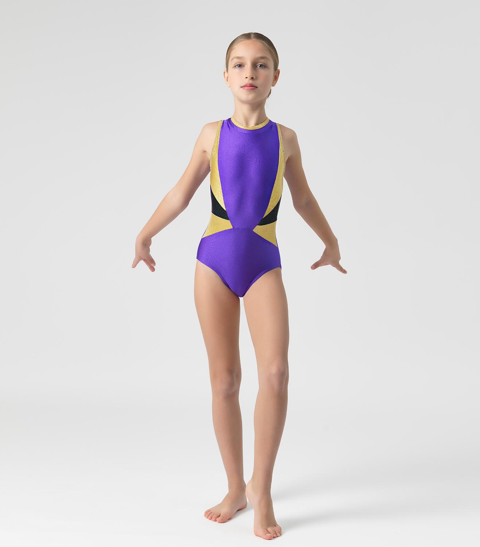 Παιδικό Κορμάκι Ενόργανης Γυμναστικής Με Λεπτομέρειες Από Λαμπερά ... da6f6bc690a