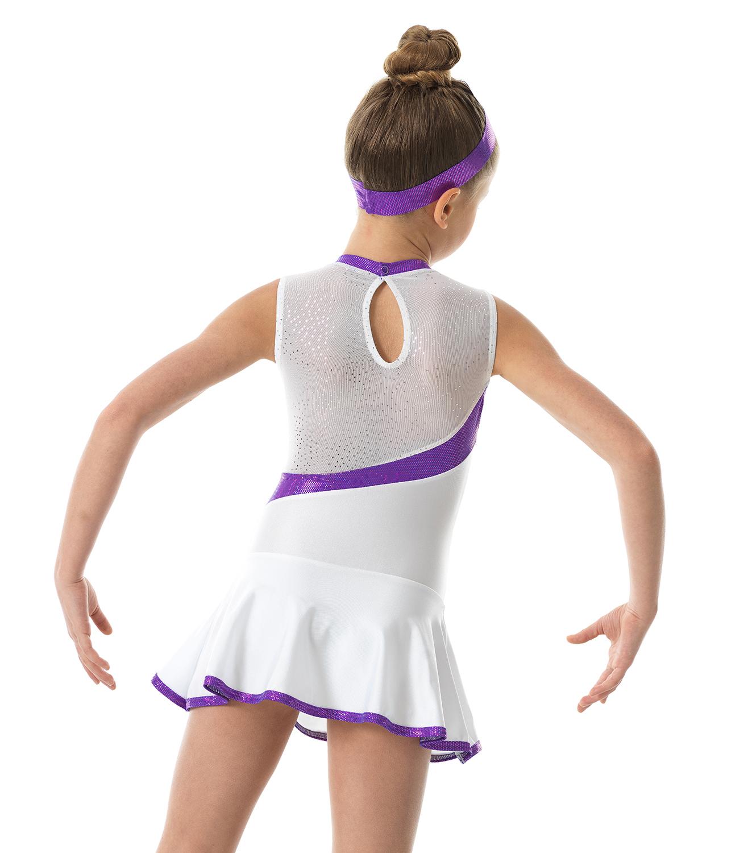 Κορμάκι Ρυθμικής Γυμναστικής Λύκρα Με Ενσωματωμένη Φούστα ... a9dd0e5156d