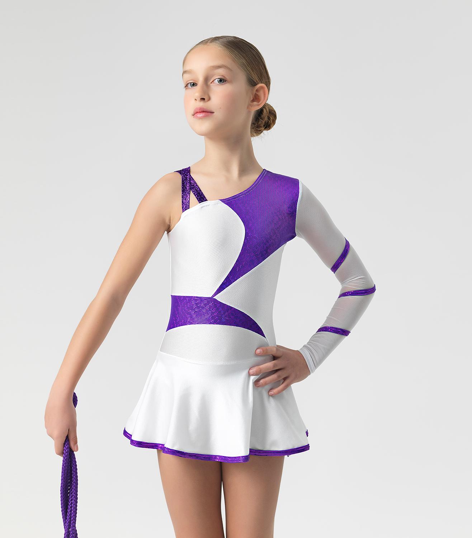 Παιδικό Κορμάκι Λύκρα Ρυθμικής Γυμναστικής Με Ενσωματωμένη Φούστα ... 7a2a8a4430b